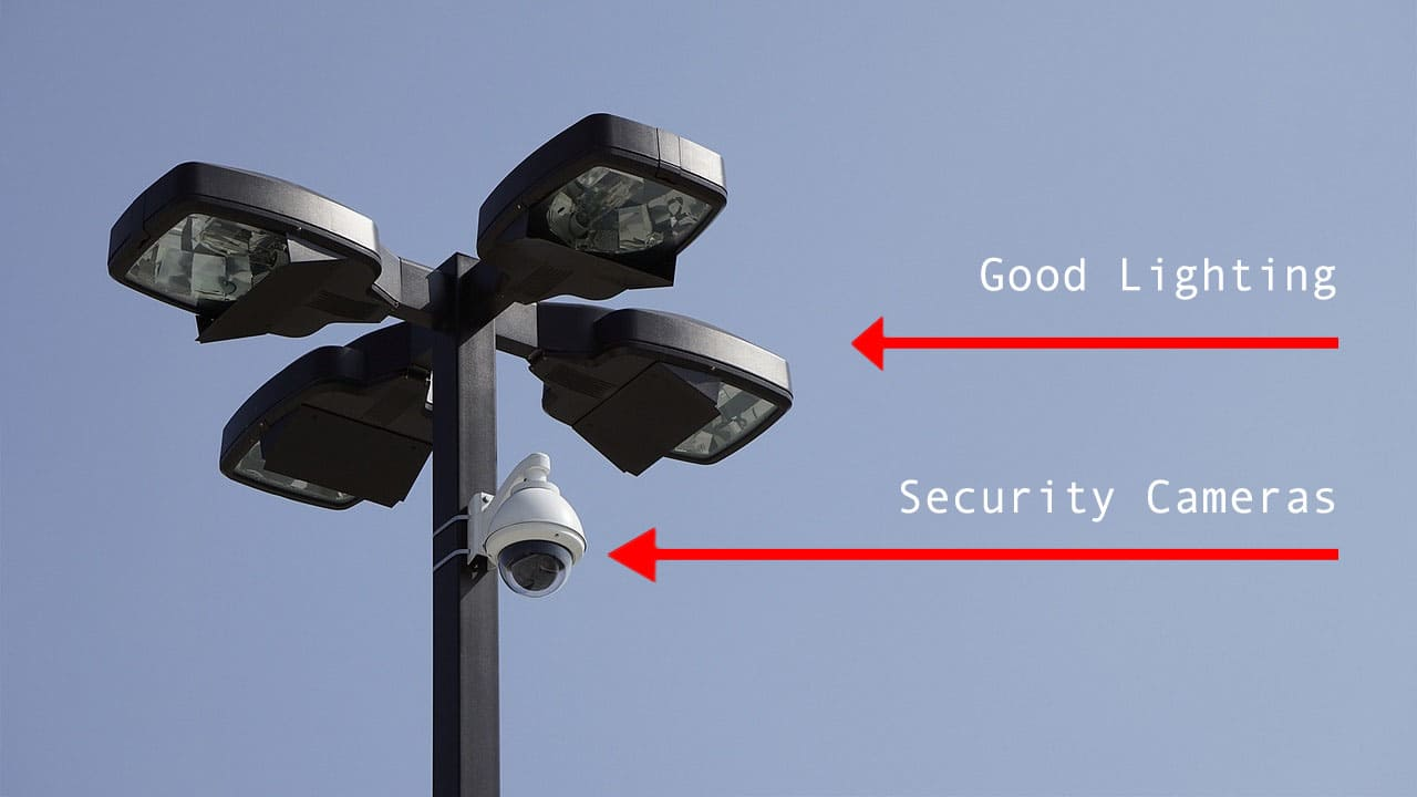 Security Camera and Lights